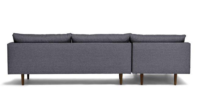 Burrard Left Sectional Sofa Stone Blue