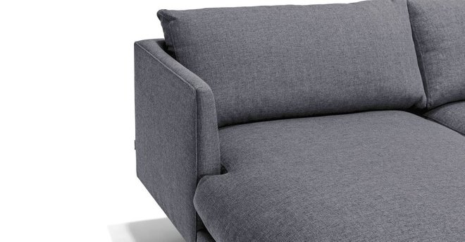 Superb Burrard Left Sectional Sofa Stone Blue Gamerscity Chair Design For Home Gamerscityorg