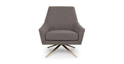 Spin Mid-Century Modern Swivel Lounge Chair Desert Gray