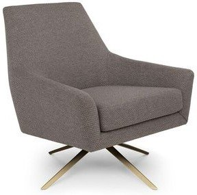 Article Spin Mid-Century Modern Swivel Lounge Chair Desert Gray