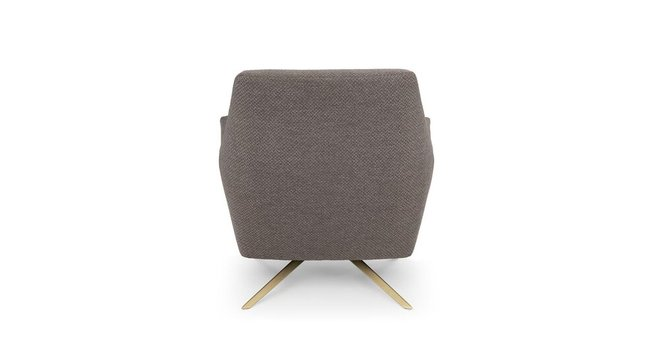 Spin Mid-Century Modern Swivel Lounge Chair Desert Gray