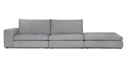 Gaba Modular Sofa Left Arm Gull Gray