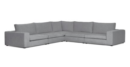 Gaba Corner Modular Sectional Gull Gray