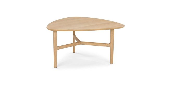 Brezza Triangular Coffee Table Light Oak