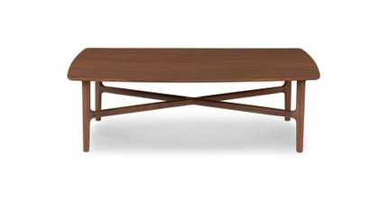 Brezza Matte Rectangular Coffee Table Walnut