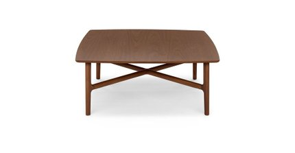 Brezza Square Coffee Table Matte Walnut