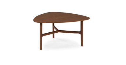 Article Brezza Triangular Coffee Table Matte Walnut