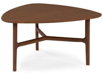 Article Brezza Triangular Coffee Table Matte Walnut
