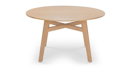Ventu Round Dining Table Light Oak