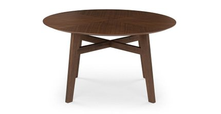 Ventu Round Dining Table Matte Walnut