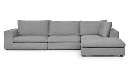Gaba Modular Right Sectional Gull Gray