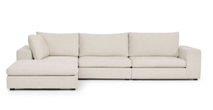 Gaba Modular Left Sectional Pearl White