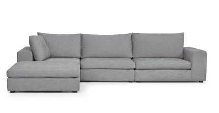 Gaba Modular Left Sectional Gull Gray