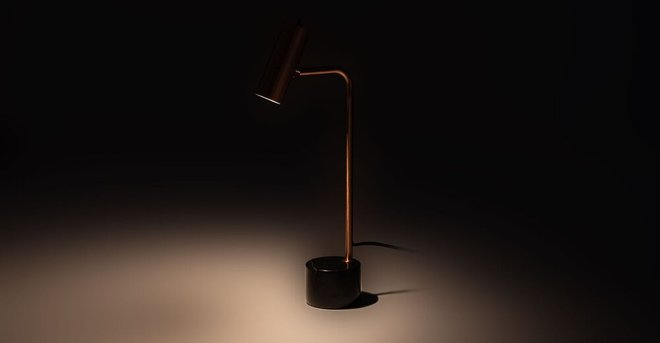 Crane Table Lamp Copper