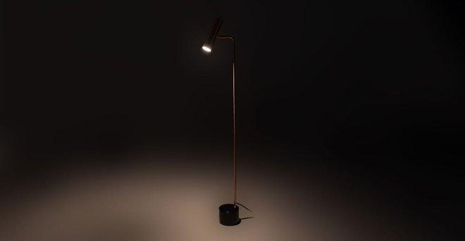 Crane Floor Lamp Copper