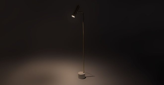 Crane Floor Lamp Brass
