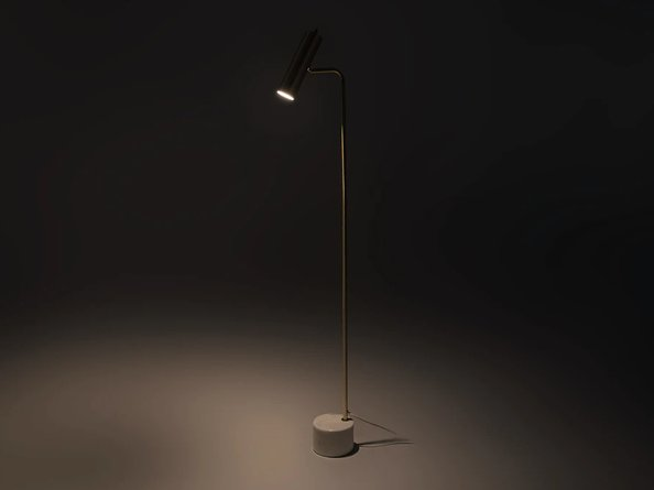 Article Crane Floor Lamp Brass
