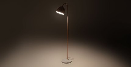 Lissom Floor Lamp Copper