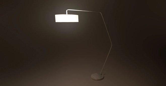 Article Heron Floor Lamp White