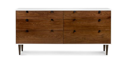 Envelo 6 Drawer Double Dresser Walnut