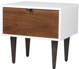 Article Envelo 1 Drawer Night Stand Walnut