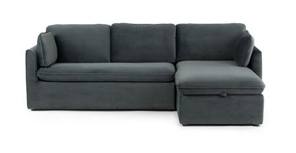 Article Oneira Deep Right Sectional Sofa Bed Sea Blue