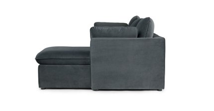 Oneira Deep Right Sectional Sofa Bed Sea Blue