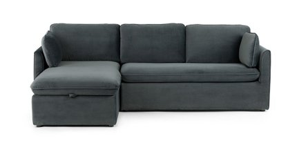 Oneira Deep Left Sectional Sofa Bed Sea Blue