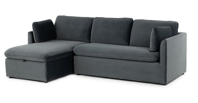 Oneira Deep Left Sectional Sofa Bed Sea Blue in DC : Sleeper Sofas ...