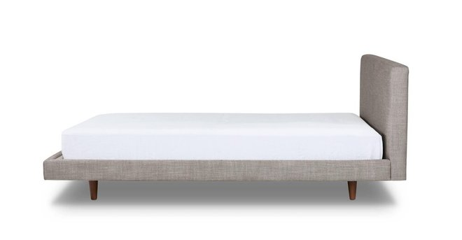 Article Tessu Queen Bed Glaze Gray And Walnut