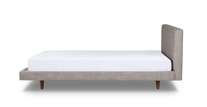Tessu Clay Taupe King Bed Gray & Walnut