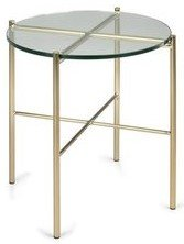 Article Silicus Side Table Clear And Brushed Gold