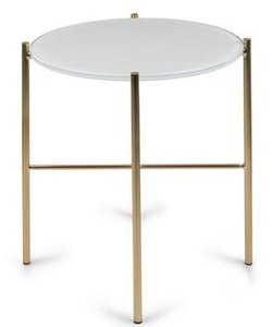 Article Silicus Mid Century Modern Side Table Glass Gold