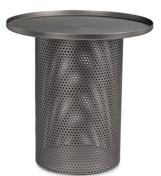 Article Equa Side Table Brushed Nickel
