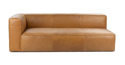 Mello Contemporary Leather Sofa Taos Tan