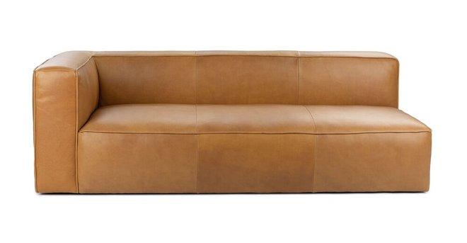 Mello Contemporary Leather Sofa Taos Tan