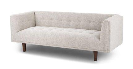 Pleasant Cirrus Mid Century Modern Sofa Birch Ivory Machost Co Dining Chair Design Ideas Machostcouk