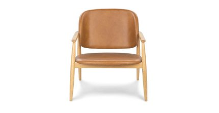 Levo Modern Lounge Chair Toscana Tan