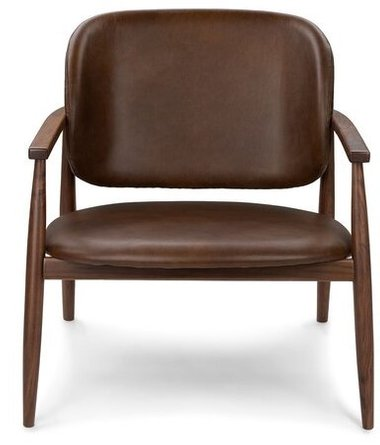 Article Levo Modern Lounge Chair Brown Leather
