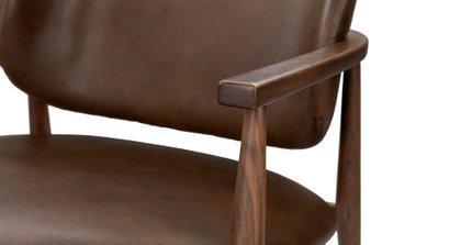 Levo Modern Lounge Chair Brown Leather
