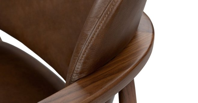 Levo Modern Lounge Chair Brown Leather