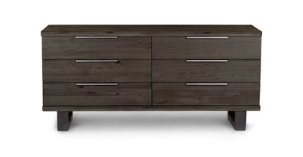 Taiga 6 Drawer Low Double Dresser Smoke