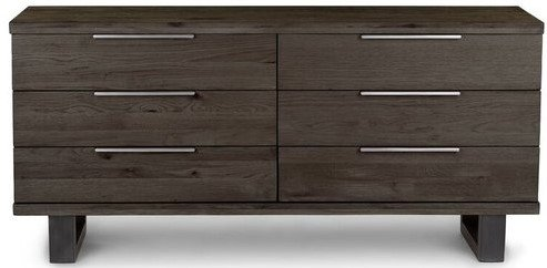 Article Taiga 6 Drawer Low Double Dresser Rustic Smoke