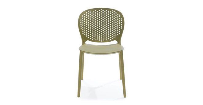 Article Dot Contemporary Outdoor Dining Chair Green (Set of 2)