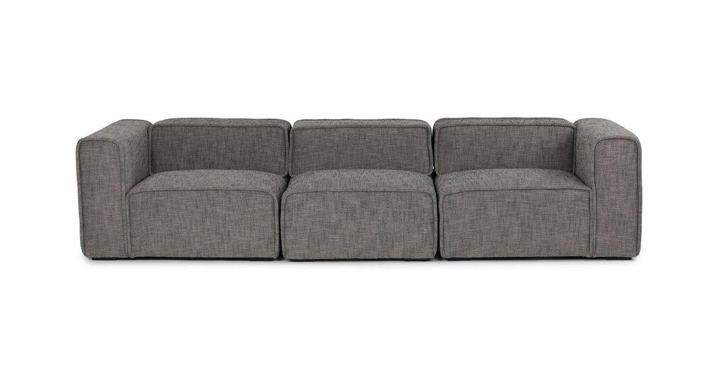 Quadra Modern Modular Sofa Mineral Taupe