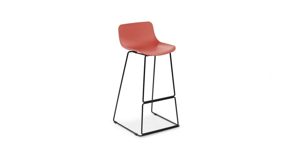 Prime Anco Modern Bar Stool Red Unemploymentrelief Wooden Chair Designs For Living Room Unemploymentrelieforg