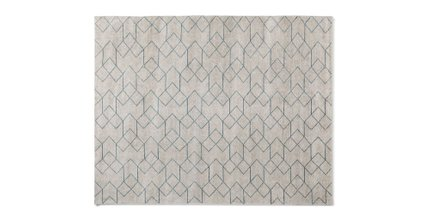 Polygon Rug 8 X 10 Cloud White