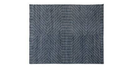 Parallel Rug 8 X 10 Wave Blue