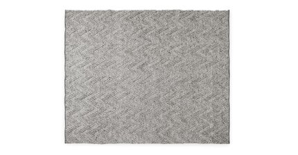 Vee Rug 8 X 10 Metal Gray