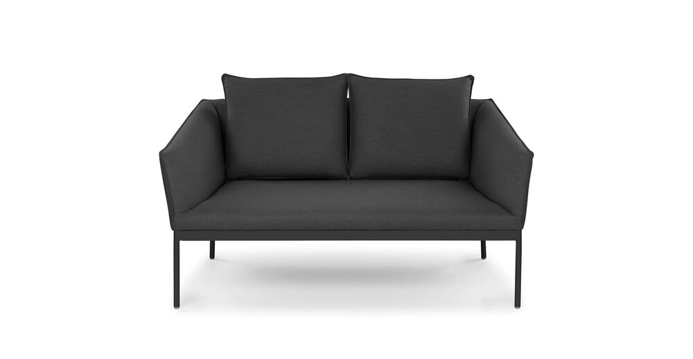 Palo Contemporary Outdoor Loveseat Sula Gray